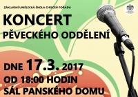 Koncert pěveckého oddělení